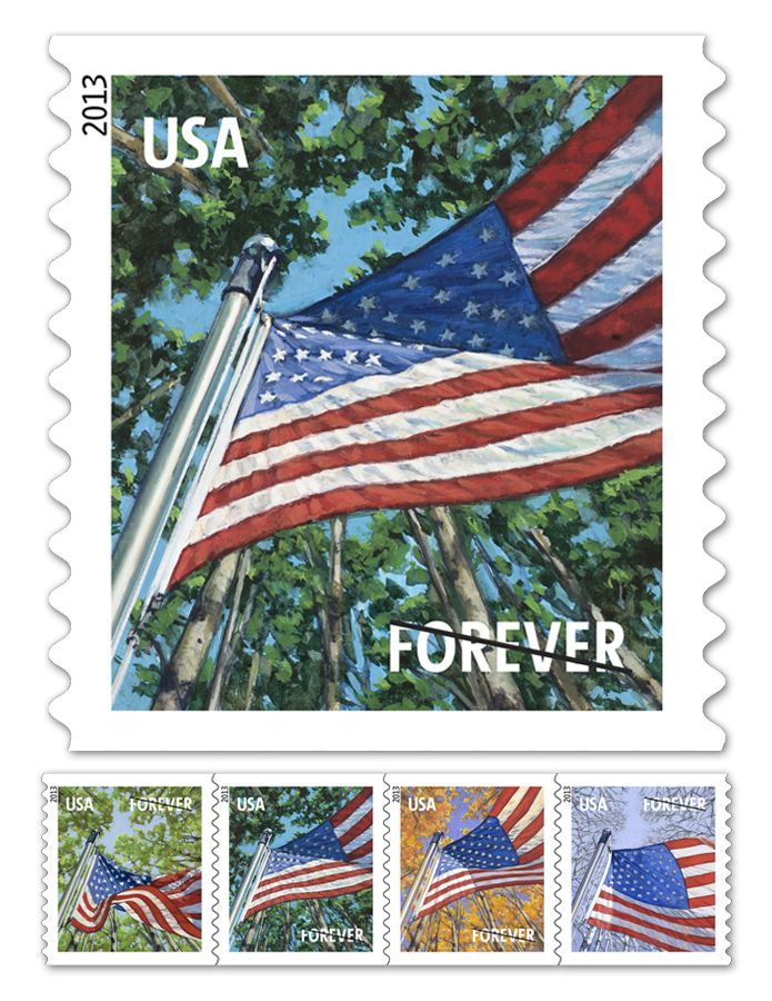 Flag For All Seasons Forever Stamp Available In Book Of