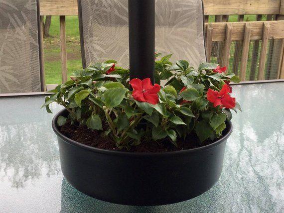 Umbrella Planter Patio Tabletop Flower Pot Rustic
