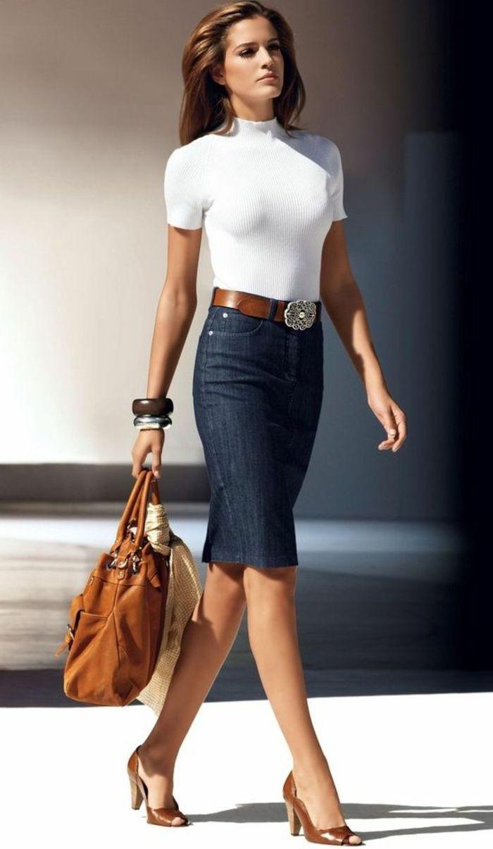 rien de plus f minin que la jupe crayon blouse blanche femmes modernes et jupe droite. Black Bedroom Furniture Sets. Home Design Ideas
