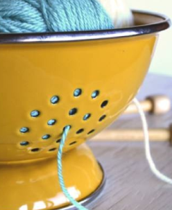 7 Creative Yarn Holder Ideas That Will Keep your Skeins Clean from: theyarnbox.com