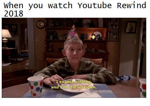 People Hated 2018 S Youtube Rewind And They Made A Ton Of Memes About It Youtube Rewind Quick Pics Memes