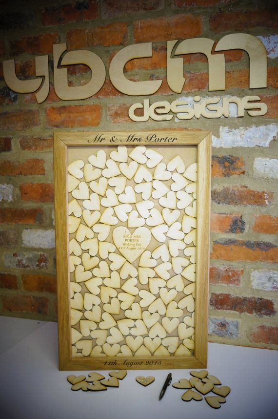 Wooden Heart Drop Box Guest Book Alternative Wedding