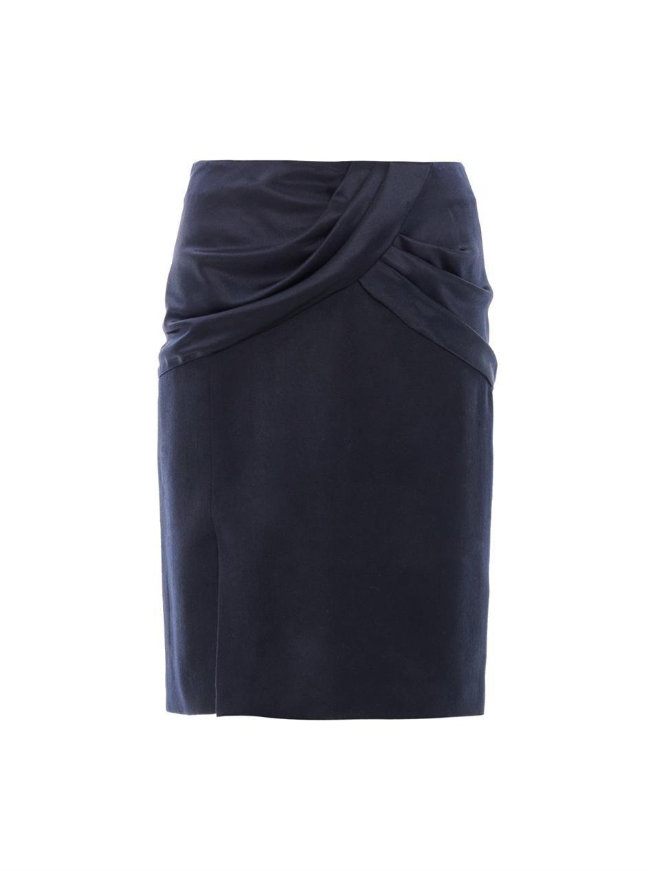 Draped silk & wool skirt | Prabal Gurung