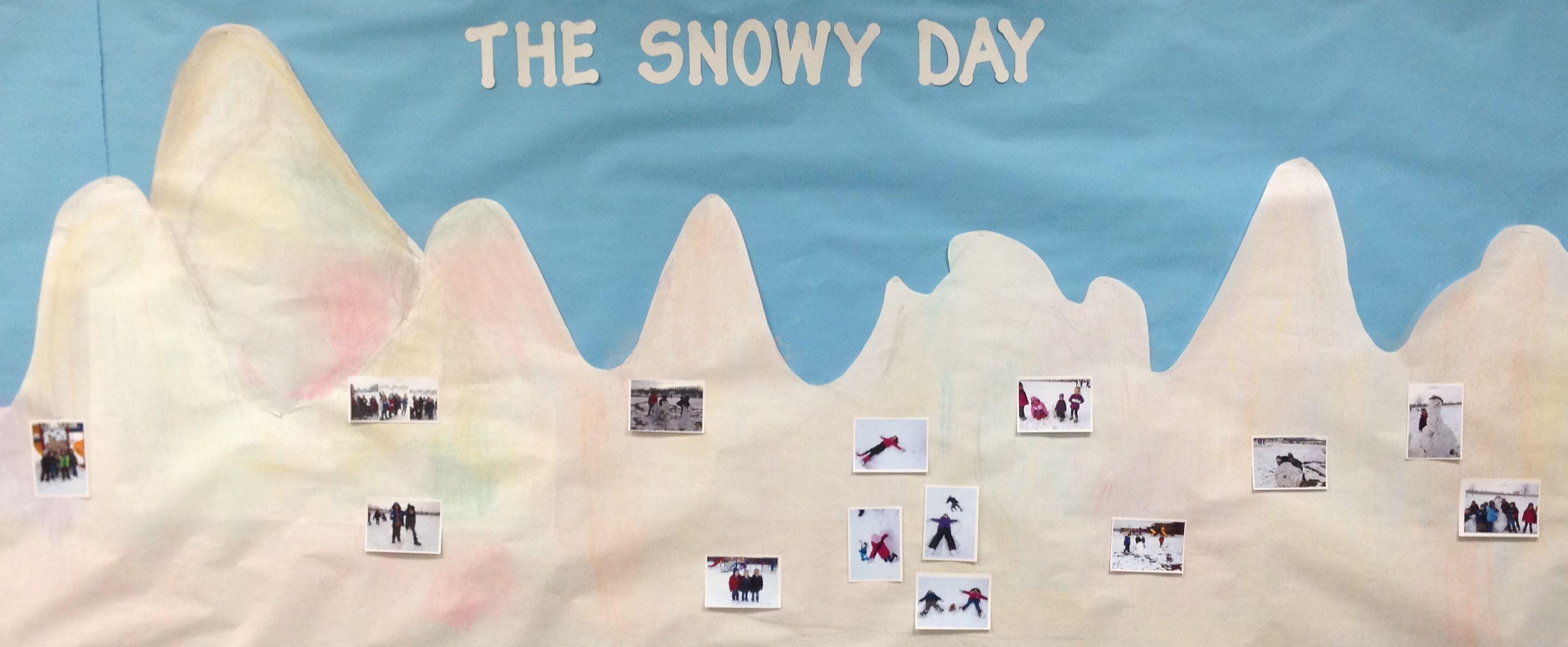 Bulletin Board Based On The Snowy Day By Ezra Jack Keats