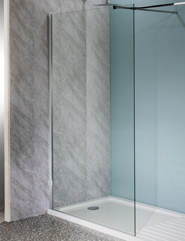 2000mm x 1200mm Walk In Easy Clean Glass Shower Screen 10mm £249.95 ...