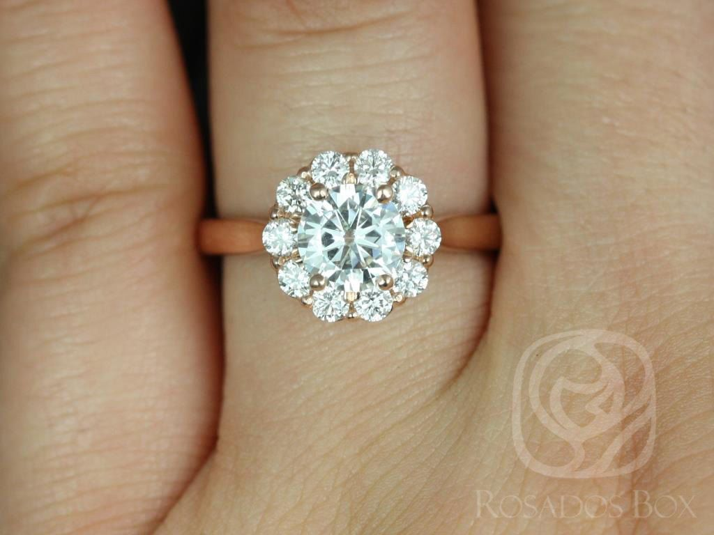 flowery petals shape ring engagement rings diamond flower petal carat