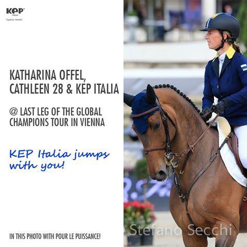 KEP ITALIA IN VIENNA @Darren Goble CHAMPIONS TOUR WITH KATHARINA OFFEL!  #KATHARINAOFFEL #Cathleen #helmets #riding #horses #superiorhelmets #safetyfirst!