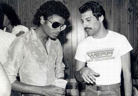Michael Jackson et Freddy Mercury