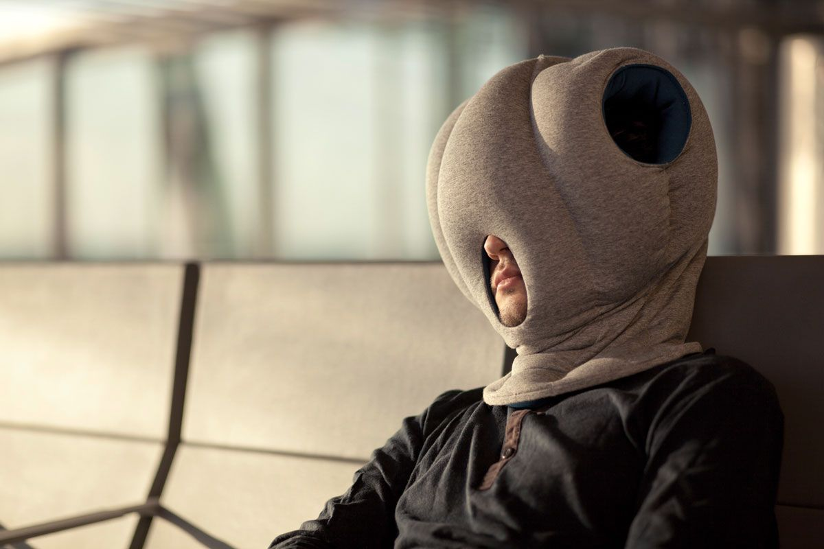 Ostrich Pillow A Little Private Space Within A Public One