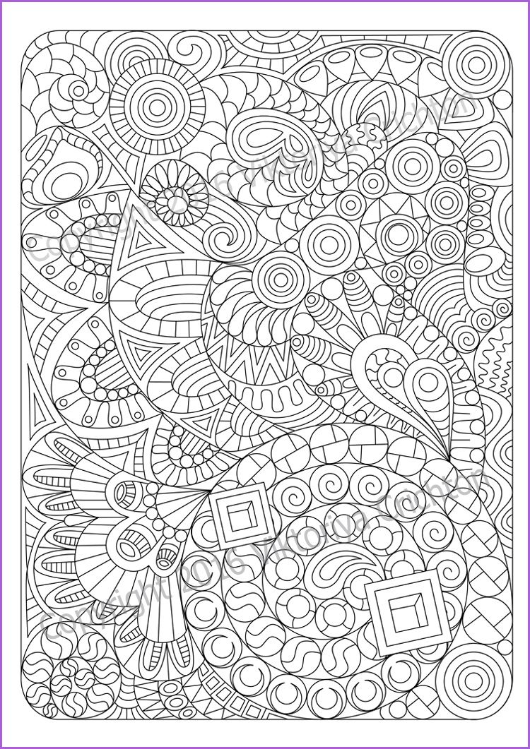 coloring page and children pdf zentangle by