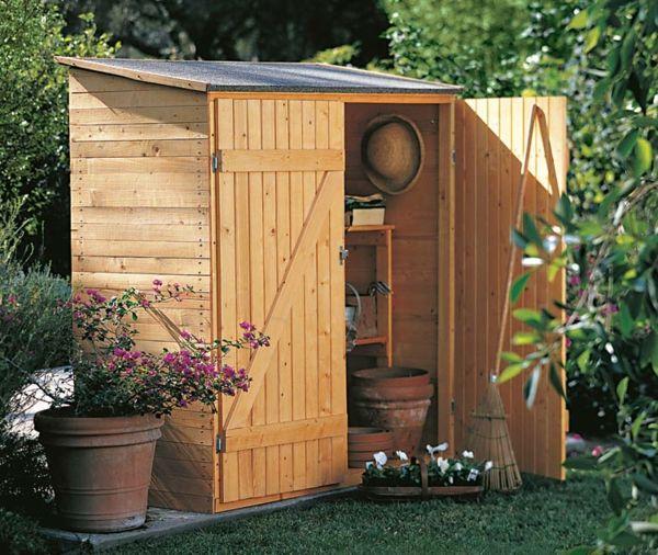 Gartenschrank Holz großer praktisch gestalteter gartenschrank aus holz garden