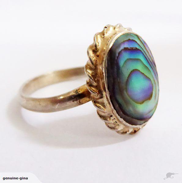 Vintage Ataahua Sterling & Paua ring