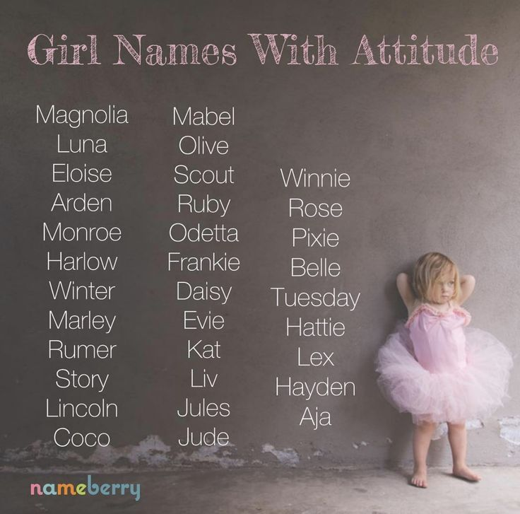 Girl Names with Attitude - #Attitude #girl #Names #babynames