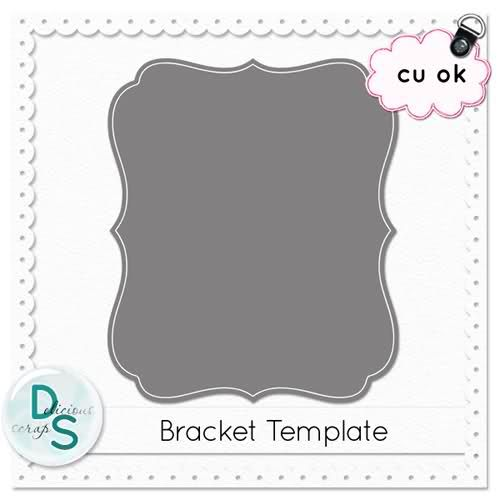 Delicious Scraps Free Bracket Template (PSD and PNG) Blackcat - abel templates psd