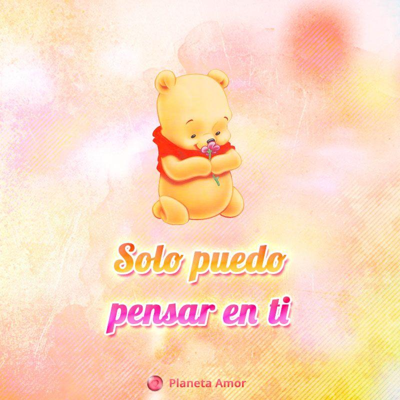 Imagen De Winnie Pooh Bebe Con Frase De Amor Para Facebook