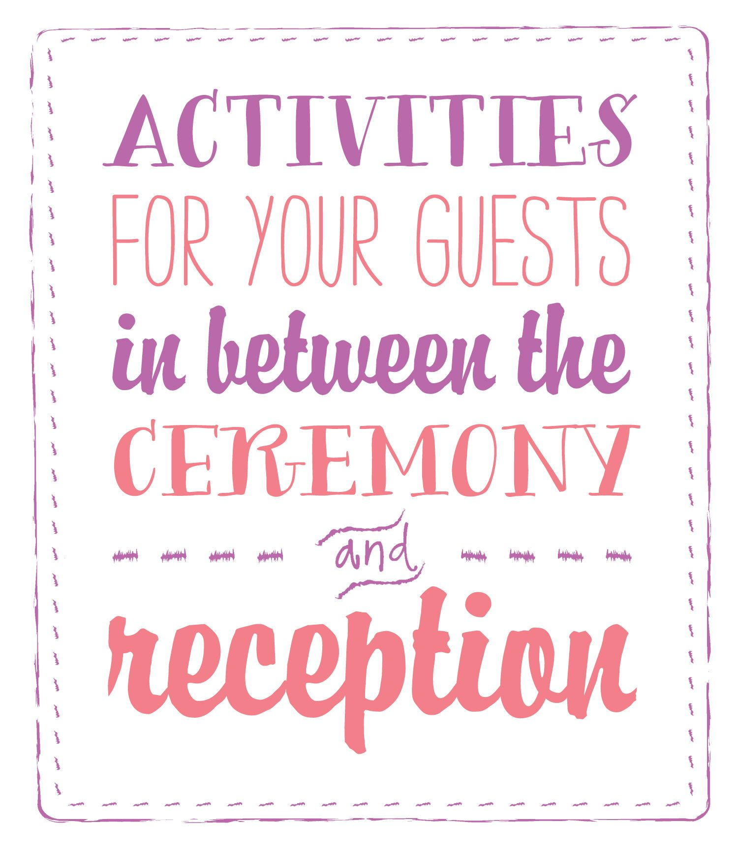 Time Between Wedding Ceremony And Reception