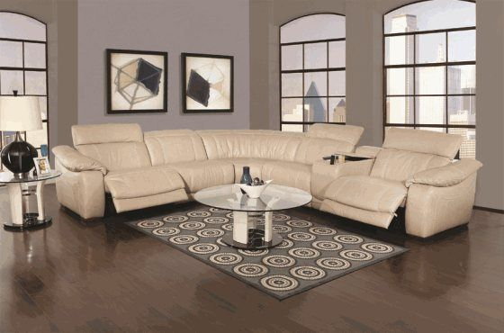 Peachy Kanes Furniture Dario 6 Piece Leather Sectional With Evergreenethics Interior Chair Design Evergreenethicsorg
