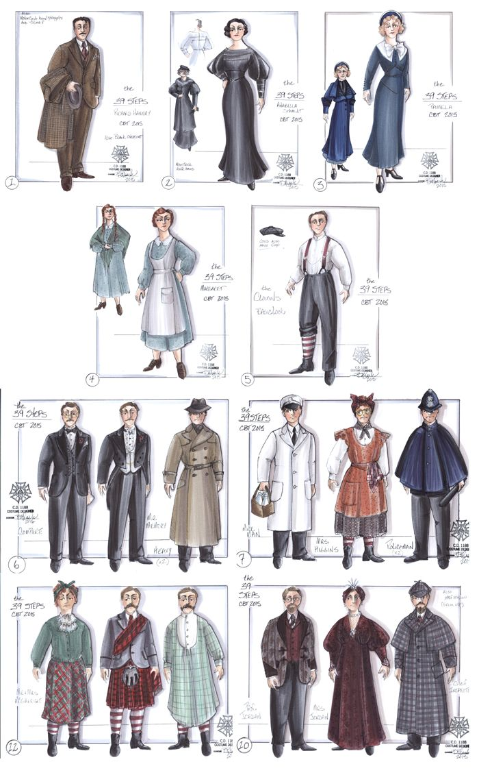 The 39 Steps Costume Sketches Costume Design Sketch Costume Design Fashion Design Sketches