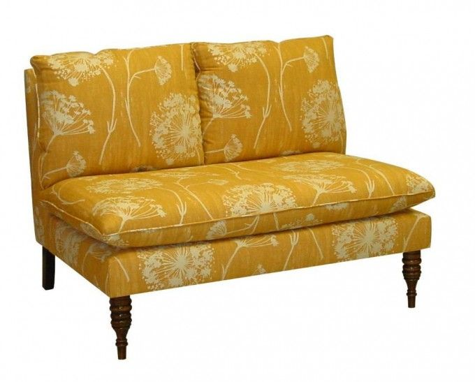 Attractive Skyline Furniture Mavericks Love Seat Loveseat Upholstered In Queen Anne`s  Lace Butterscotch Fabric
