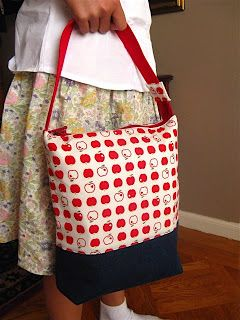 blissful: Tutorial: Zippered top lunch bags