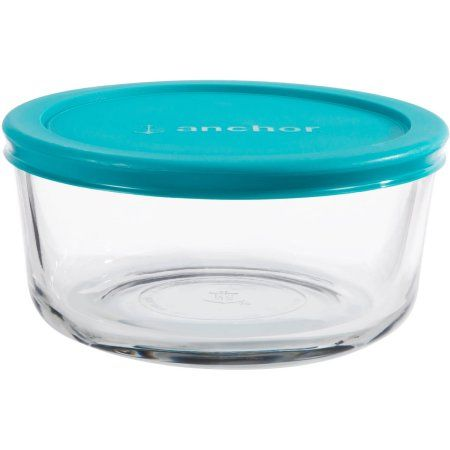 Buy Anchor Hocking 4 Cup Round Food Storage Container with Teal Lid