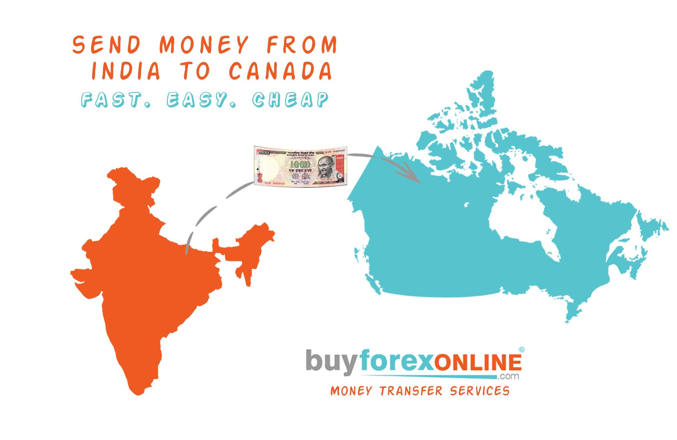 Avail The Best Send Money From India To Canada Services They Offer Instant Online