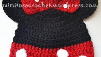 Gorros de Mickey y Minnie Mouse a Crochet