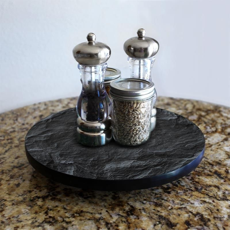 Lazy Susan Slate Design 3 Different Sizes For Kitchen Table