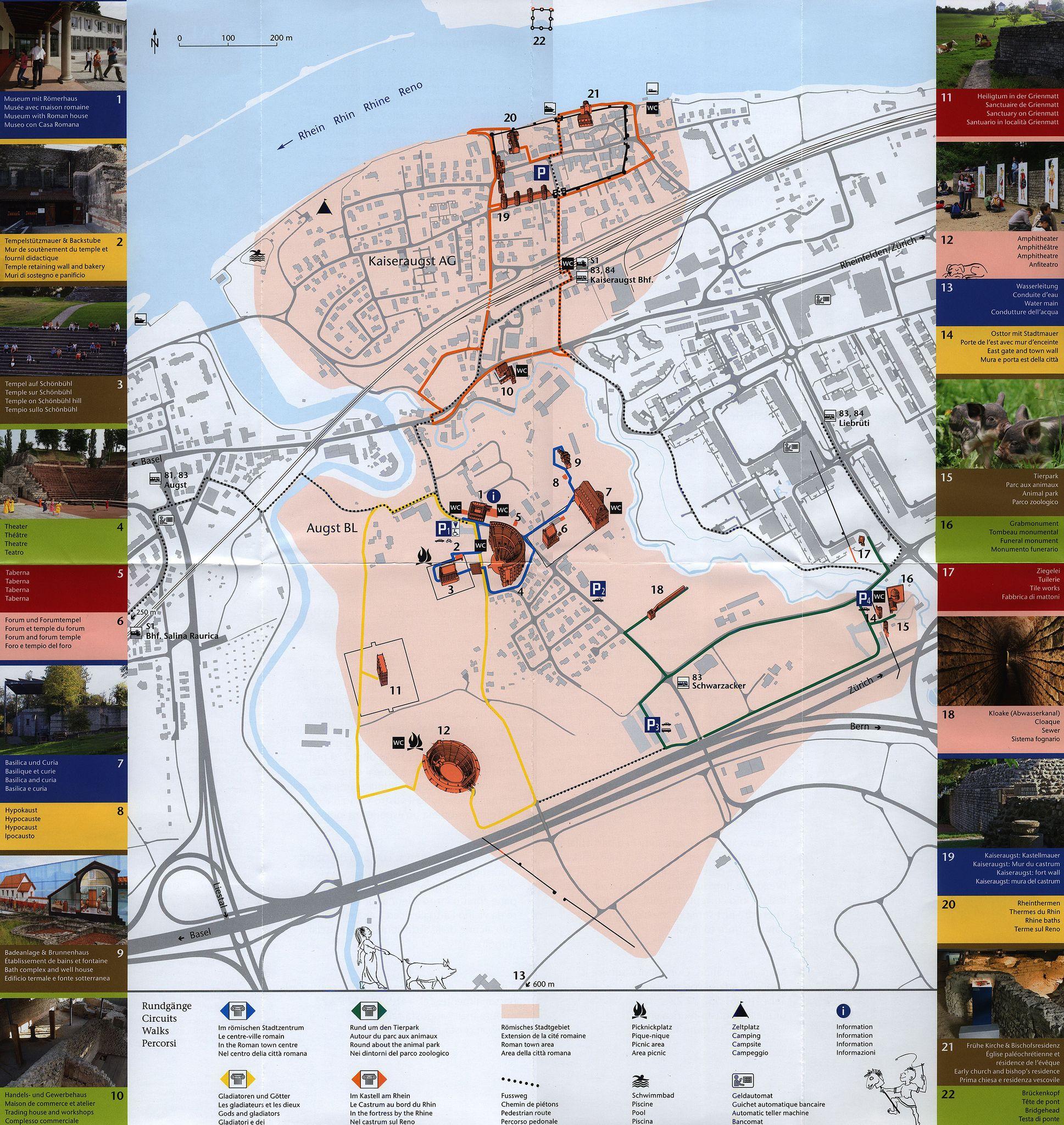 Augst Salve Plan Augusta Raurica 20152 Basel Landschaft