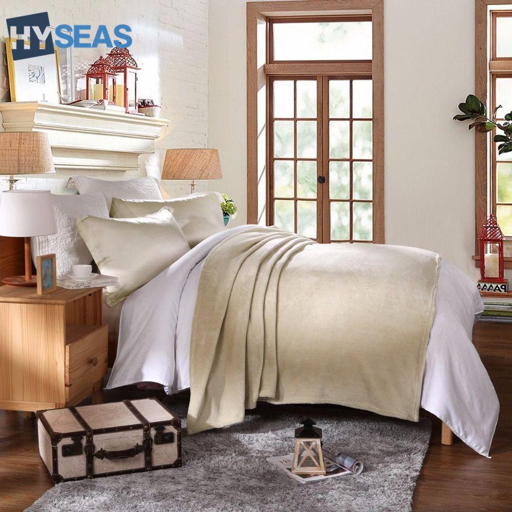 Hyseas coral fleece plush throw blanket pink solid color super soft
