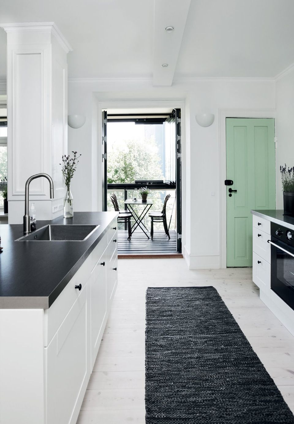 Adding just a hint of color in one place adds an accent element that ...