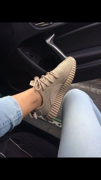 2ff61d6498f shoes adidas adidas shoes cute yeezy adidas originals yeezy 350 boost  trainers sneakers tumblr tumblr shoes beige brown causal shoes nude sneakers