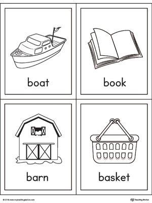 letter b words and pictures printable cards boat book barn basket phonics printable. Black Bedroom Furniture Sets. Home Design Ideas