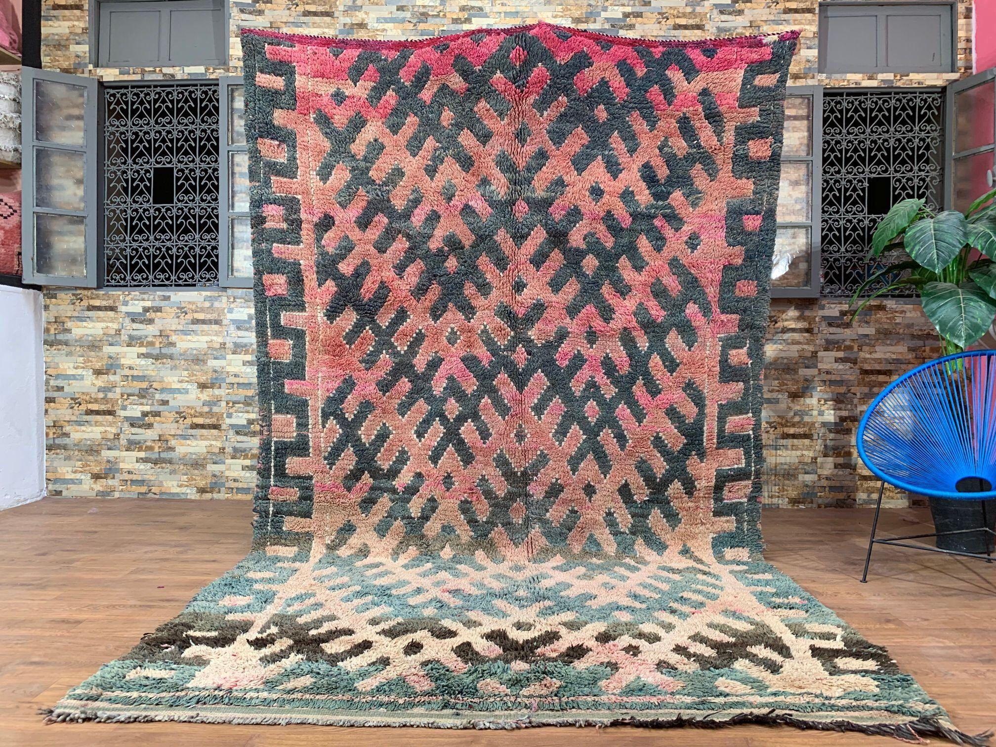 6 5ft X 10 3ft Moroccan Rug Berber Vintage Wool Rug Rag Rugs Tribal Rug Handmade Rug Area Rug Bou Vintage Moroccan Rugs Vintage Moroccan Vintage Wool Rug