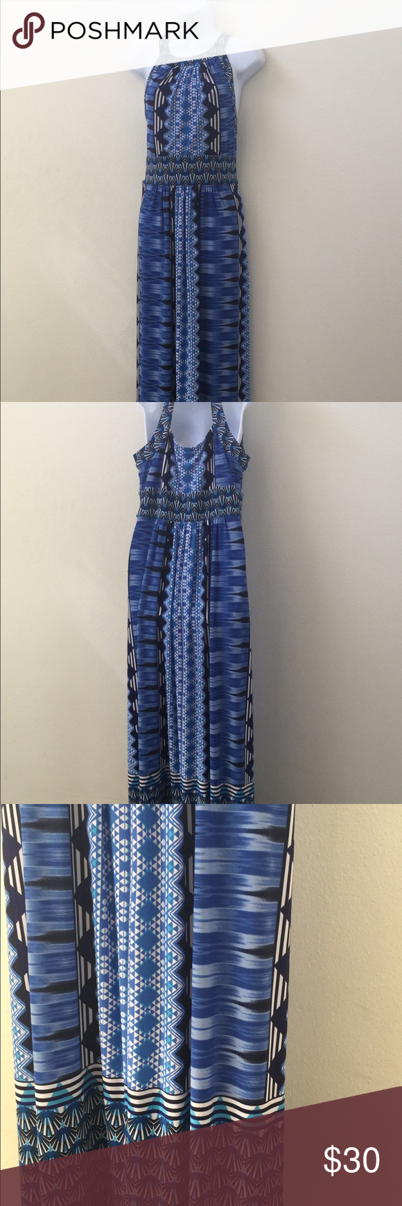 Womenus size blue maxi dress