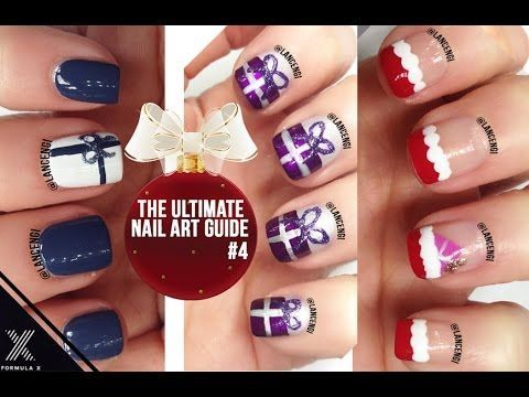 diy easy cute christmas gifts nail art polish designs for