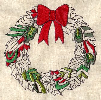 Leafy Wreath | Urban Threads: Unique and Awesome Embroidery Designs