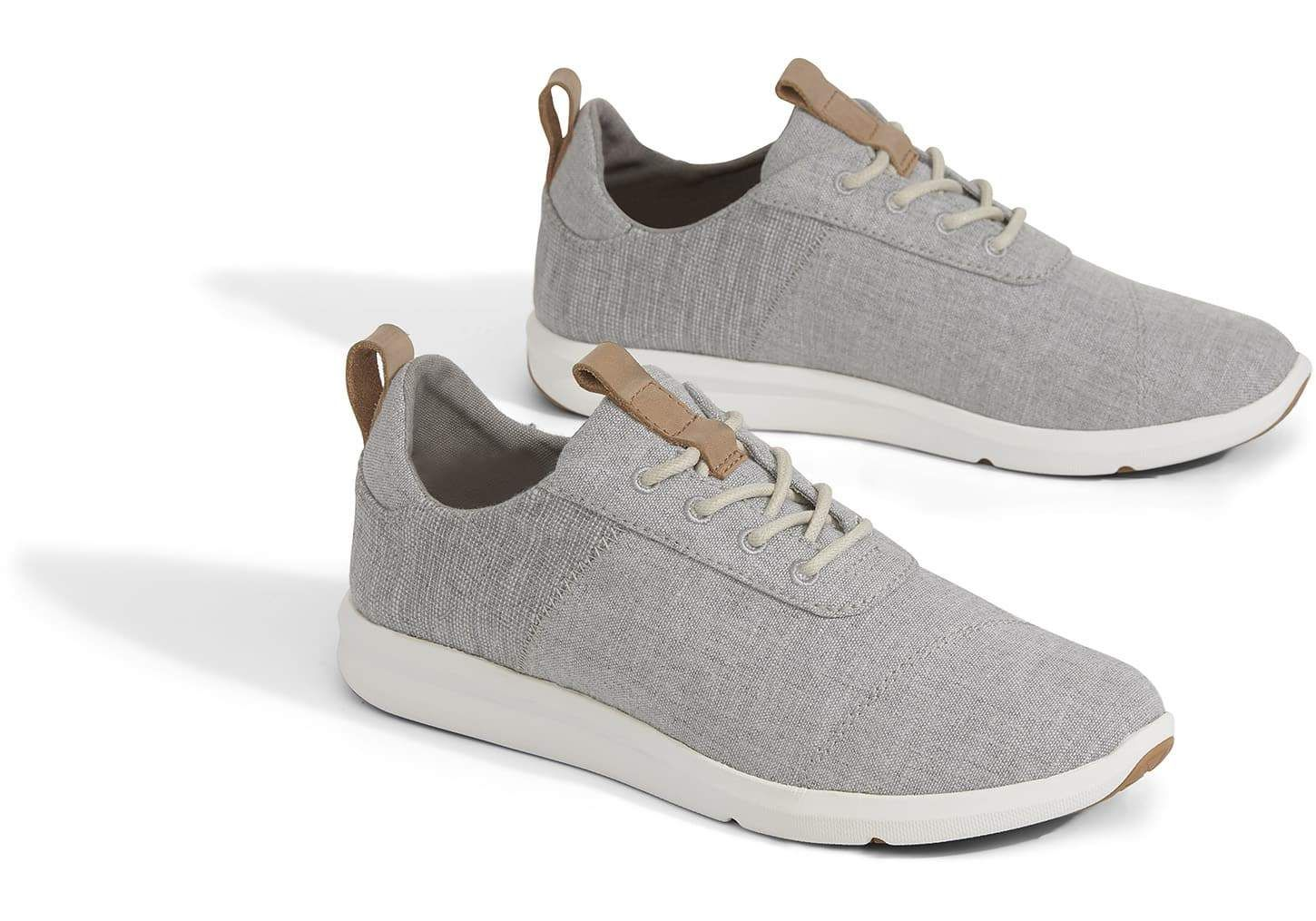 3f667dd60a93f5 TOMS Drizzle Grey Chambray Sneakers