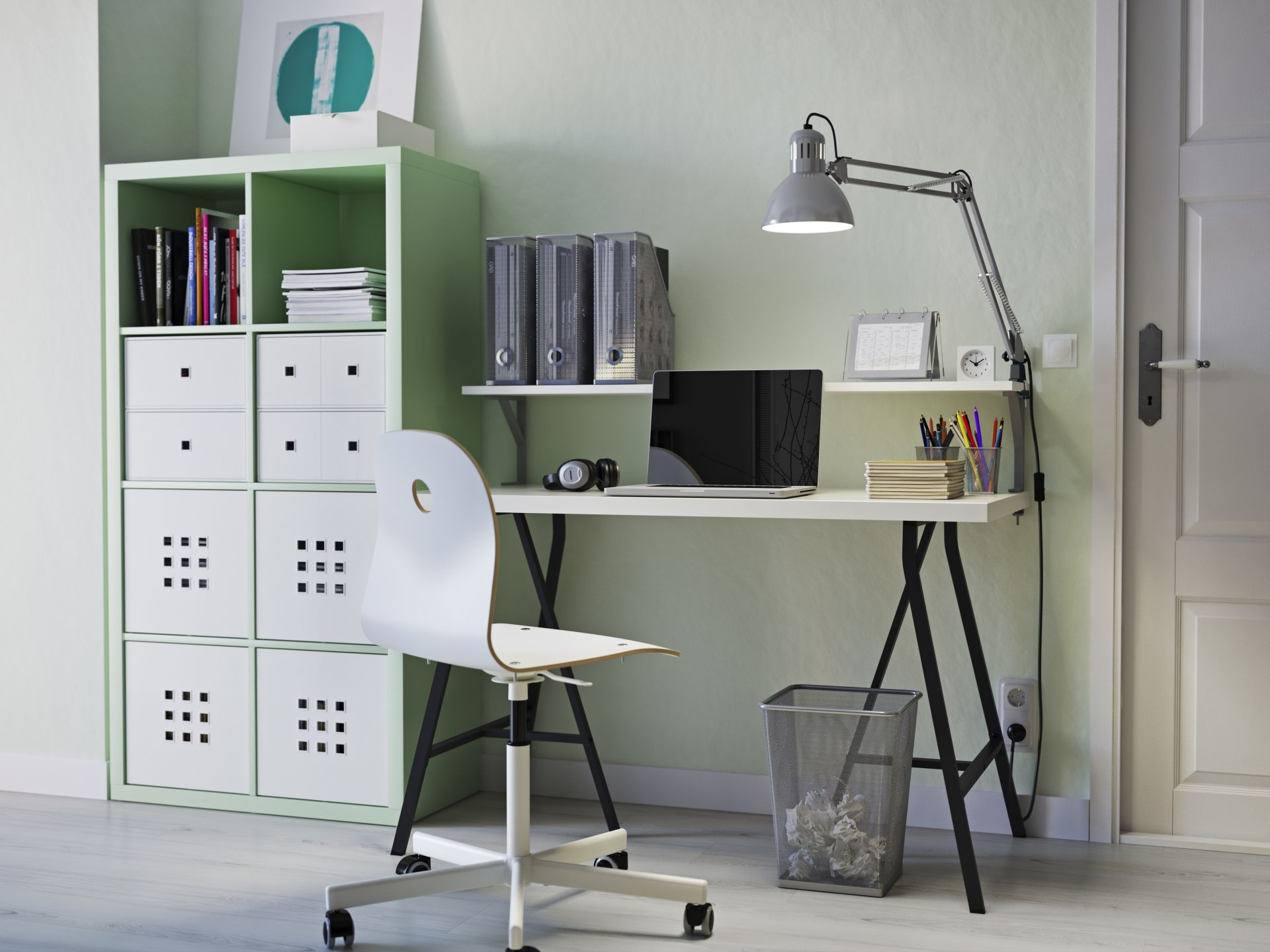 Ikea hack bureau met betonnen werkblad for the home ikea