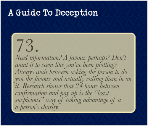 A Guide To Deception — Deception experts and manipulators alike often...
