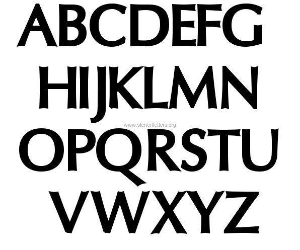 Large Letter Stencils | Large letter stencils, Letter ...