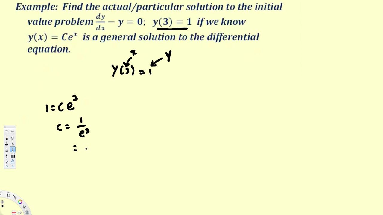 solving initial value problems differential equations