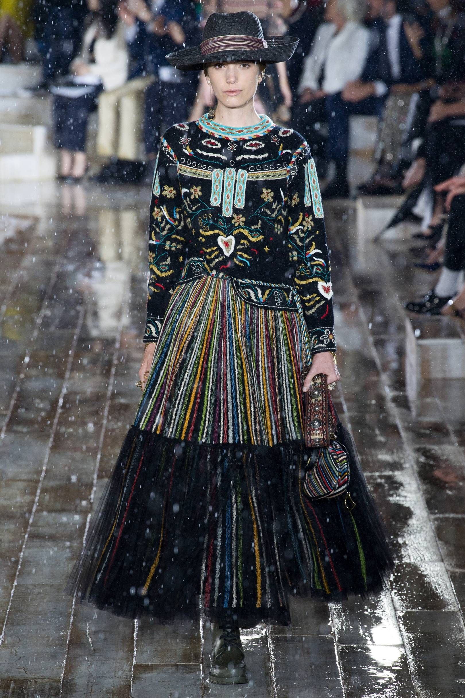 43bd2c993e962 Dior Spring Summer 2019 Resort Collection - Heavy embellishment and nordic  inspired embroidery