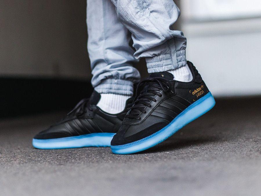 Avis] Adidas Samba RM Boost noire Core Black Shock Cyan