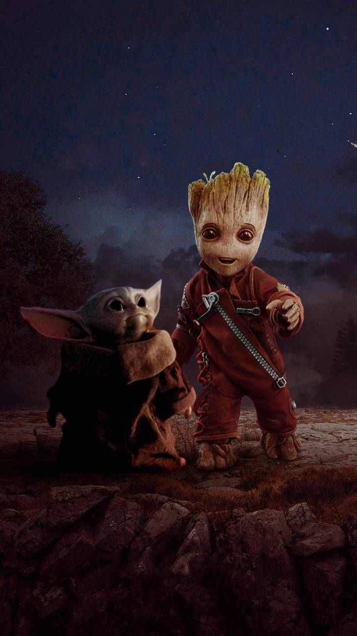 Groot and Baby Yoda wallpaper by Andey10 - be41 - Free on ZEDGE™