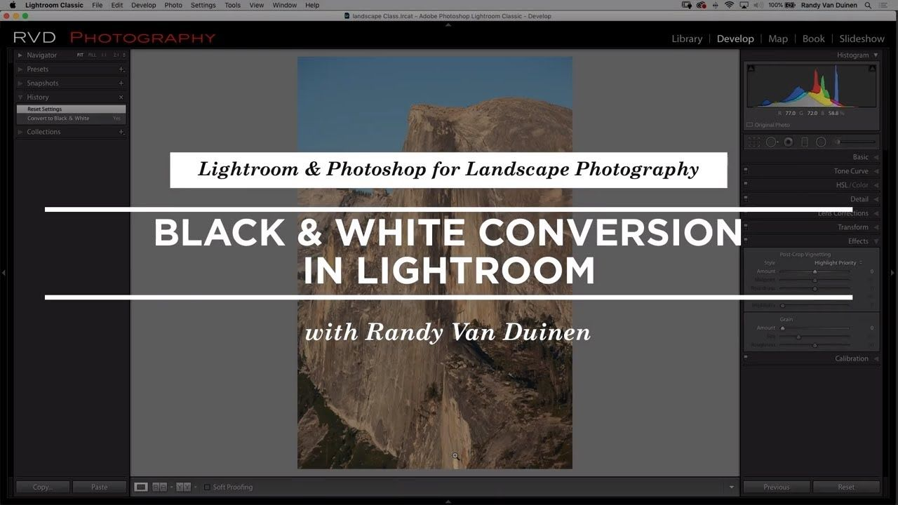 How To Convert A File To Black And White In Lightroom Creativelive Youtube Lightroom Photoshop Lightroom Black And White