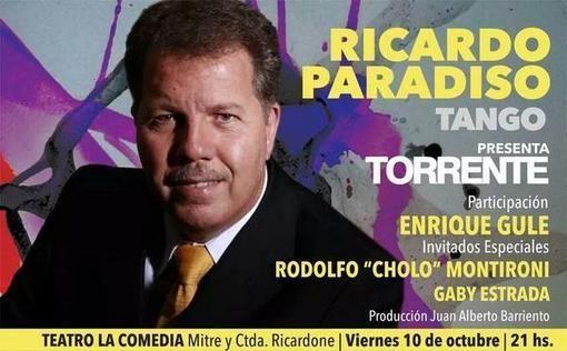 Rosario: Ricardo Paradiso presenta su CD Torrente