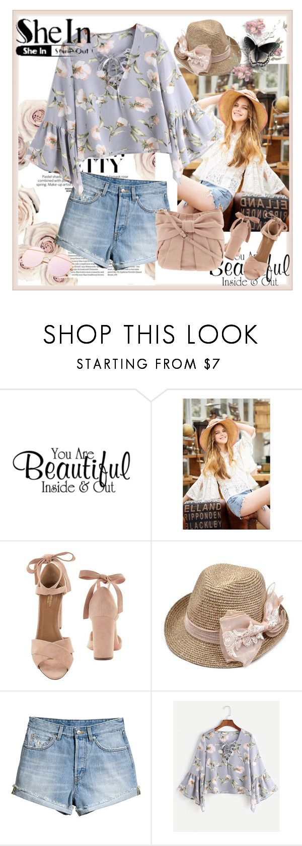 """""""Shein"""" by sanela1209 ❤ liked on Polyvore featuring Aquazzura, H&M and RED Valentino"""
