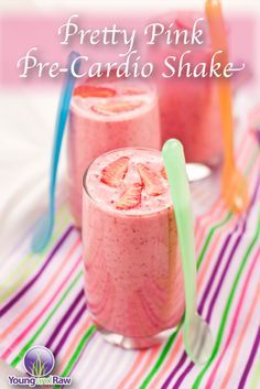 Pretty Pink Pre-Cardio Shake on YoungandRaw.com: http://www.youngandraw.com/pretty-pink-pre-cardio-shake/