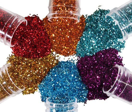 How to glitterize anything and make it stick - use hairspray! =) Geat for decorating glass vases and jars....adheres to fabric AND also paper! =) works like a charm! Every crafter's secret =)